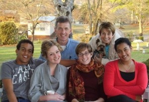 The McNeils from left to right: Natha, Kirsten, Lee, Anna, Jane, Rebekah